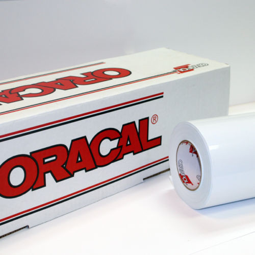 White Oracal 651 Sign Vinyl (select length & width)