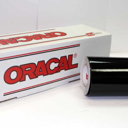 Black Oracal 651 Sign Vinyl (select length & width)