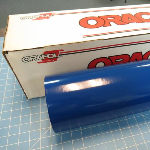 Blue Oracal 651 Sign Vinyl  (select length & width)