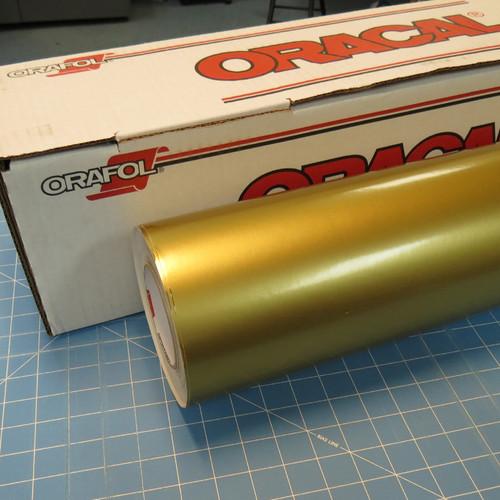 Gold Metallic Oracal 651 Sign Vinyl (select length & width)