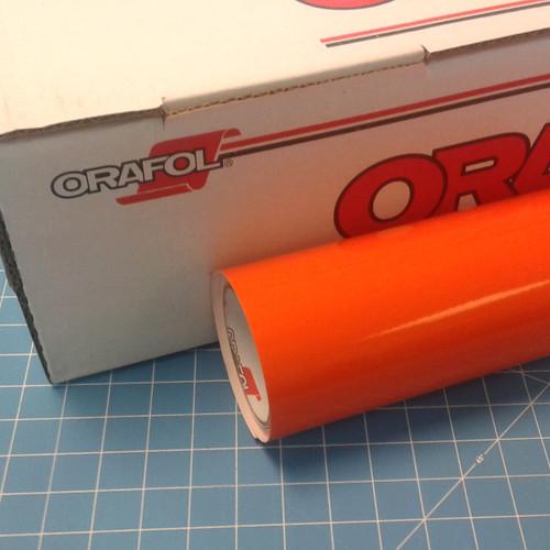 Orange Light Oracal 651 Sign Vinyl (select length & width)