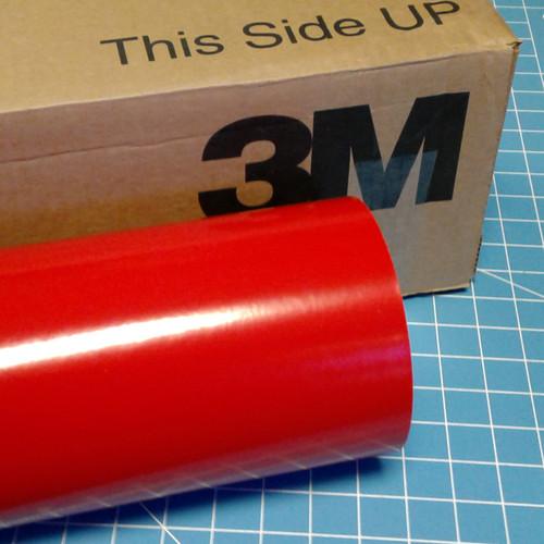 "Red Dark 24"" Roll of 3M ScotchCal Series 50 Sign Vinyl"
