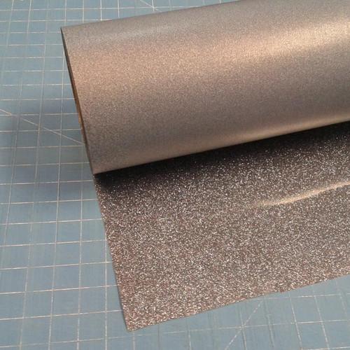 """Black Silver Siser Glitter 20"""" Roll (Click for Lengths)"""