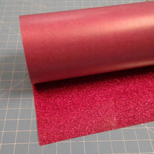 """Hot Pink Siser Glitter 20"""" Roll (Click for Lengths)"""