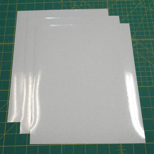 """White Siser Glitter Three (3) 10"""" x 12"""" Sheets"""
