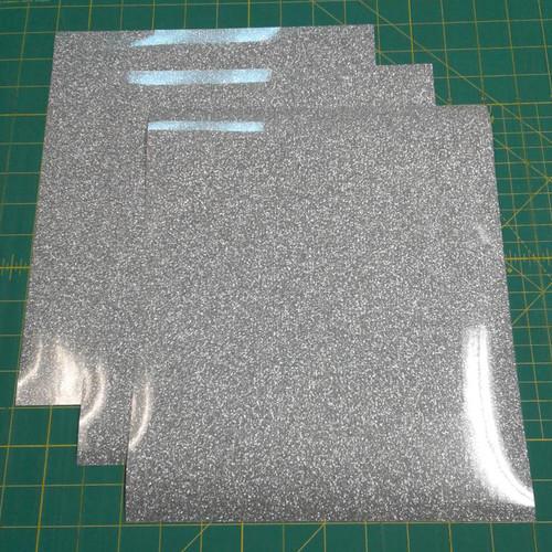 "Silver Siser Glitter Three (3) 10"" x 12"" Sheets"