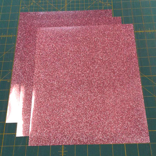 "Rose Gold Siser Glitter Three (3) 10"" x 12"" Sheets"
