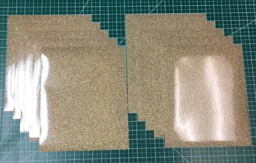 """Old Gold Siser Glitter Ten (10) 10"""" x 12"""" Sheets"""
