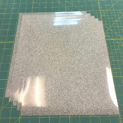 "Silver Siser Glitter Five (5) 10"" x 12"" Sheets"
