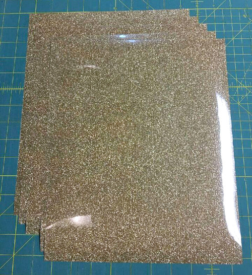 "Old Gold Siser Glitter Five (5) 10"" x 12"" Sheets"