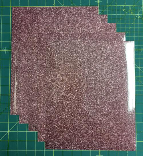 "Rose Gold Siser Glitter Five (5) 10"" x 12"" Sheets"