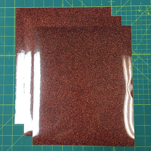 "Bronze Siser Glitter Three (3) 10"" x 12"" Sheets"