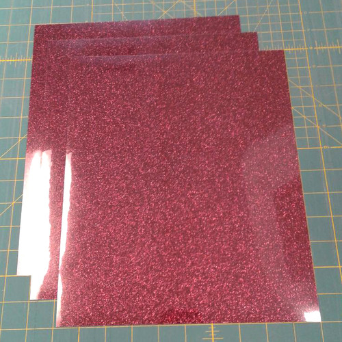 "Burgundy Siser Glitter Three (3) 10"" x 12"" Sheets"