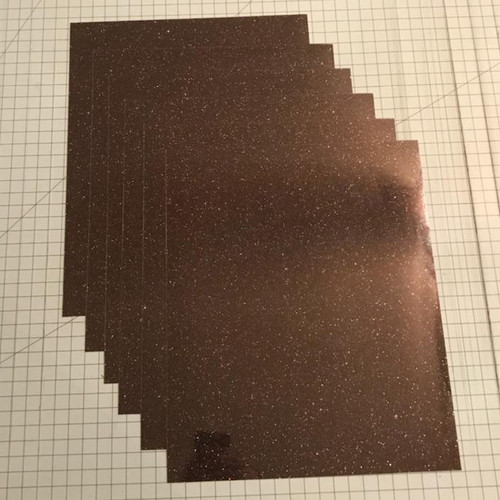 "Galaxy Black Siser Glitter Five (5) 10"" x 12"" Sheets"