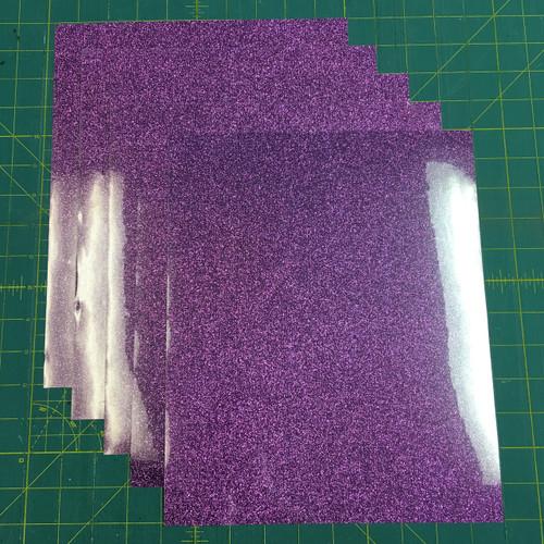 """Lavender Siser Glitter Five (5) 10"""" x 12"""" Sheets"""