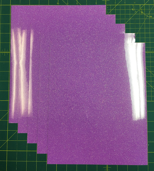 "Copy of Neon Purple Siser Glitter Five (5) 10"" x 12"" Sheets"