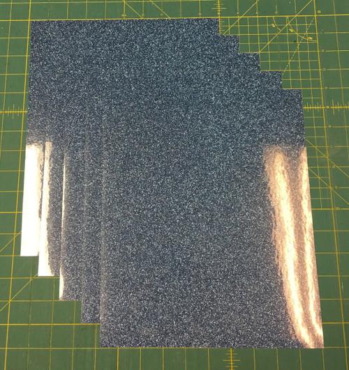 "Old Blue Siser Glitter Five (5) 10"" x 12"" Sheets"
