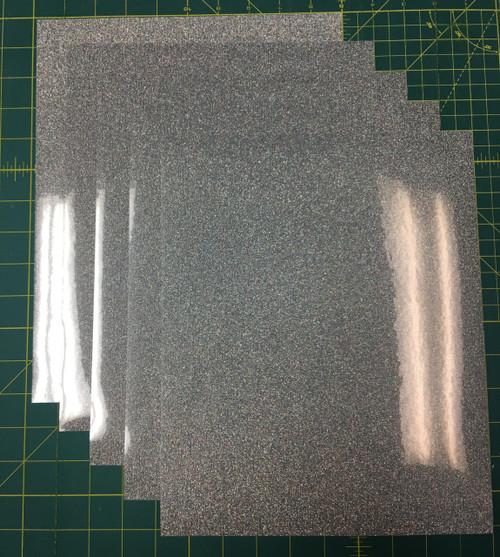 """Silver Confetti Siser Glitter Five (5) 10"""" x 12"""" Sheets"""