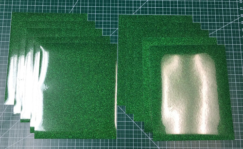 """Green Siser Glitter Ten (10) 10"""" x 12"""" Sheets"""