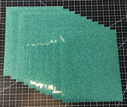 "Jade Siser Glitter Ten (10) 10"" x 12"" Sheets"