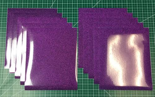"Purple Siser Glitter Ten (10) 10"" x 12"" Sheets"