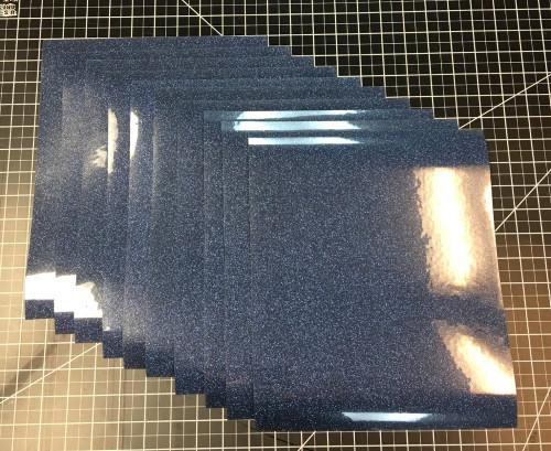 """Sapphire Siser Glitter Ten (10) 10"""" x 12"""" Sheets"""