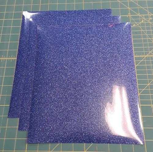 """Blue Glitterflex Three (3) 10"""" x 12"""" Sheets"""