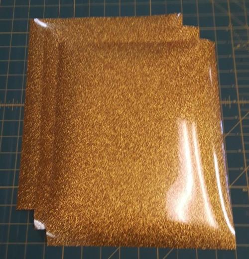 """Gold Glitterflex Three (3) 10"""" x 12"""" Sheets"""