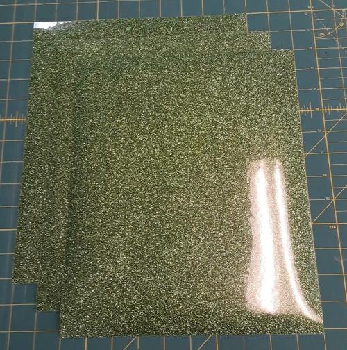 """Light Green Glitterflex Three (3) 10"""" x 12"""" Sheets"""