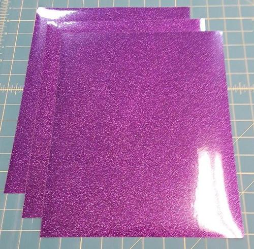 """Purple Glitterflex Three (3) 10"""" x 12"""" Sheets"""