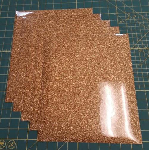 """Light Gold Glitterflex Five (5) 10"""" x 12"""" Sheets"""
