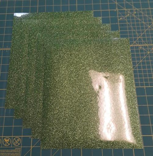 """Light Green Glitterflex Five (5) 10"""" x 12"""" Sheets"""