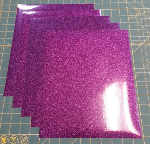 "Purple Glitterflex Five (5) 10"" x 12"" Sheets"