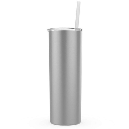 Silver Stellar (Click for Quantities) 20 oz. Skinny Steel Double Wall Stainless Tumbler