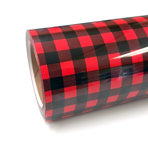 "Buffalo Plaid Red Thermoflex Fashion Patterns 12"" Roll (Click for Lengths)"
