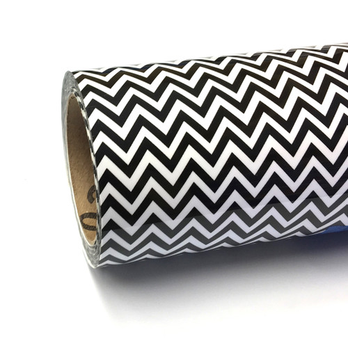 """Chevron BW Thermoflex Fashion Patterns 12"""" Roll (Click for Lengths)"""