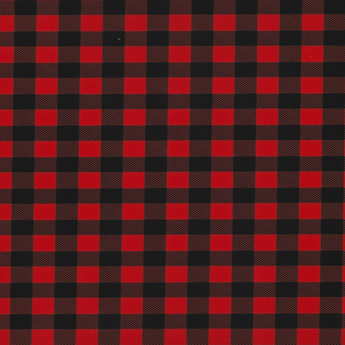 "Buffalo Plaid Red Thermoflex Fashion Patterns 12"" x 12"" Sheets (Click for Quantities)"