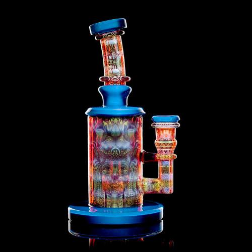 "Mothership Glass - Pomegranate Twilight ""Artifact"" Torus Set"
