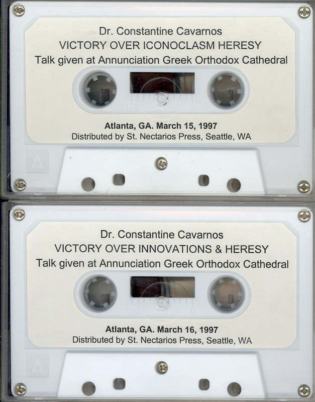 VICTORY OVER ICONOCLASM HERESY and VICTORY OVER INNOVATIONS & HERESY, set of 2 recordings