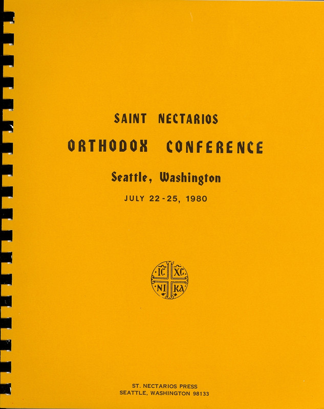 ORTHODOX CONFERENCE PROCEEDINGS, Seattle 1980