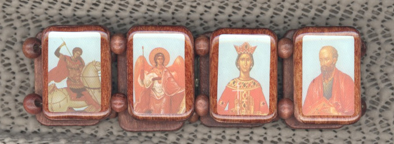 ICON BRACELETS: Orthodox Saints (LARGE)