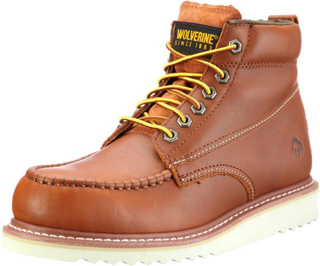 60674094f97 Wolverine W09093 Mens Apprentice Hi-Nubuck Honey Wedge Boot