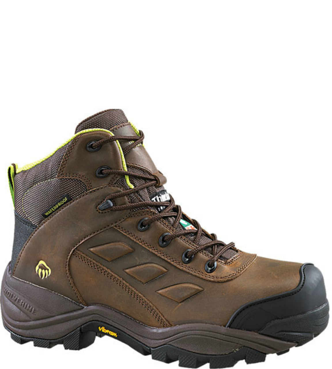 190cd02abee Wolverine W23308 Womens Growler 6″ Composite Toe Insulated Waterproof  Safety Boot