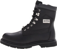 Bates 44110 Mens 8 Inch Monterey Side Zip Black Motorcycle Boot