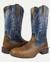 Noble N65021-139 Mens Distressed Havana Inferno All-Around Square Toe Boot