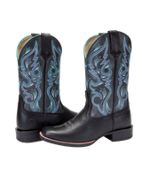 Noble 66032-019 Womens Autumn Black Charcoal All-Around Square Toe Boot