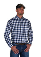 Noble Outfitters 11002-787 Mens Navy Generations Large Check Shirt