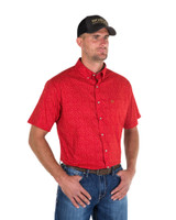 Noble Outfitters 12000-454 Mens Generation Star Print Short Sleeve Shirt