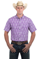 Noble Outfitters 12000-646 Mens Generations Short Sleeve Damk Shirt