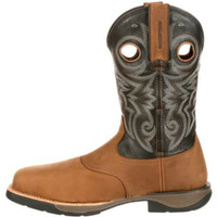 """Rocky RKW0156 Mens 11"""" Lt Composite Toe Waterproof Saddle Western Boot"""